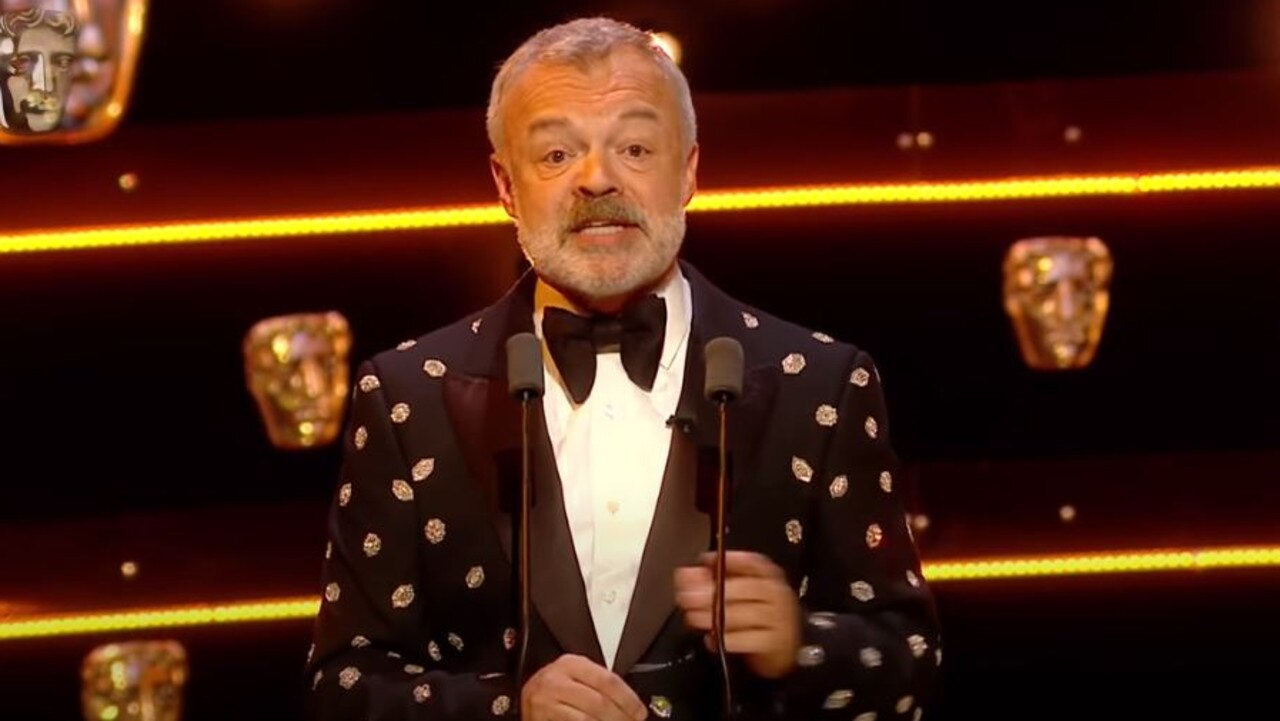 Graham Norton hosting the BAFTAs.