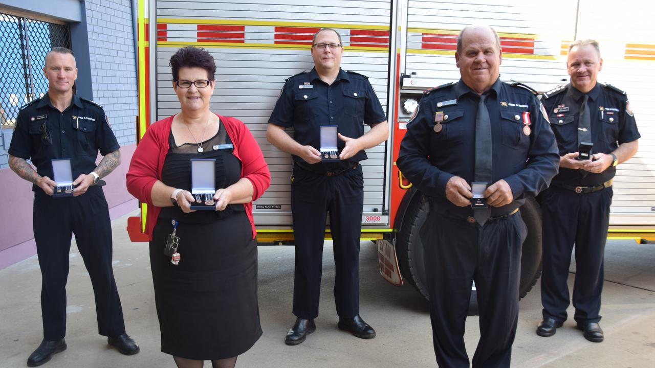Award recipients Reade Stemple, Cameron Bunn, Barry Thompson, Lisa Christie and Robert Price.