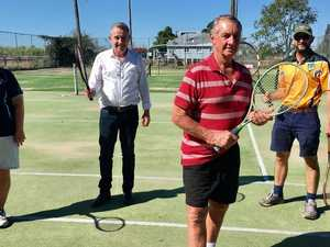 MP helps serve up new court surface