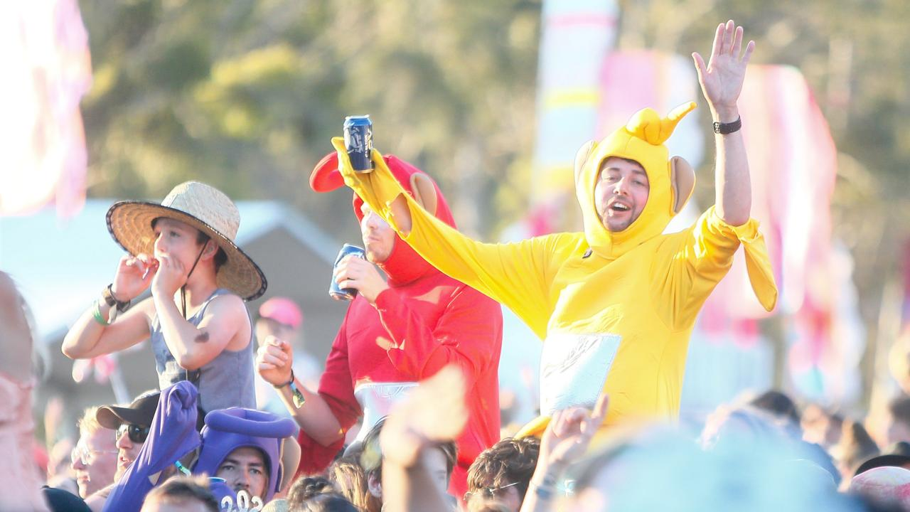 Some of the best dressed at Falls Festival. Picture: PATRICK GEE