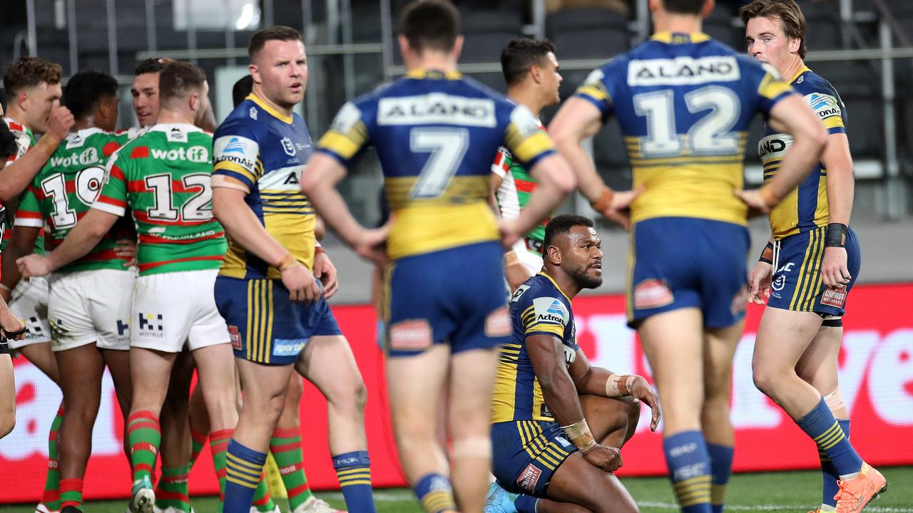 Souths are charging while the Eels are faltering.