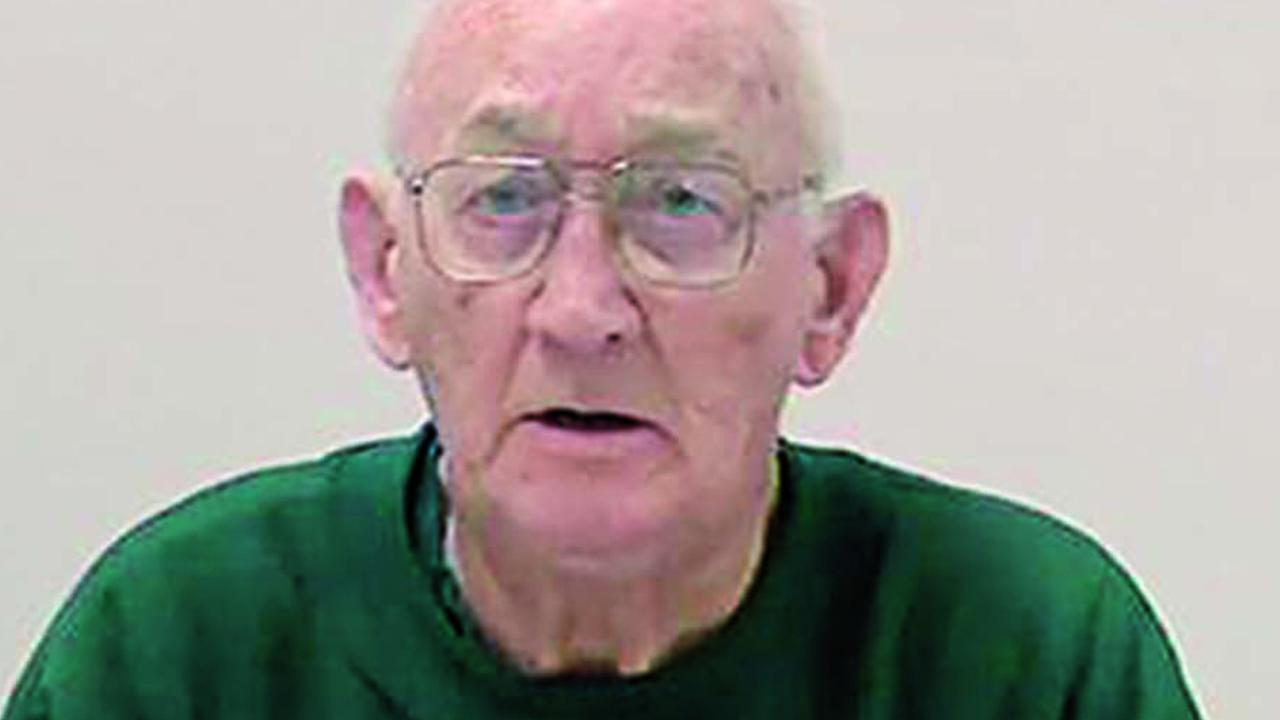 Former priest and convicted paedophile Gerald Ridsdale wearing prison greens on January 27, 2018.