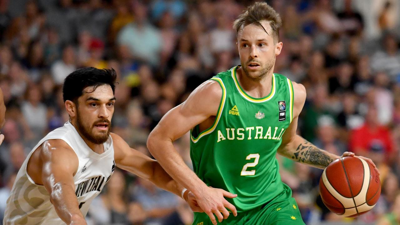 Australian Boomers guard Nathan Sobey is enjoying his opportunity helping Ipswich basketballers in this year's Queensland State League. Picture: AAP Image/Darren England