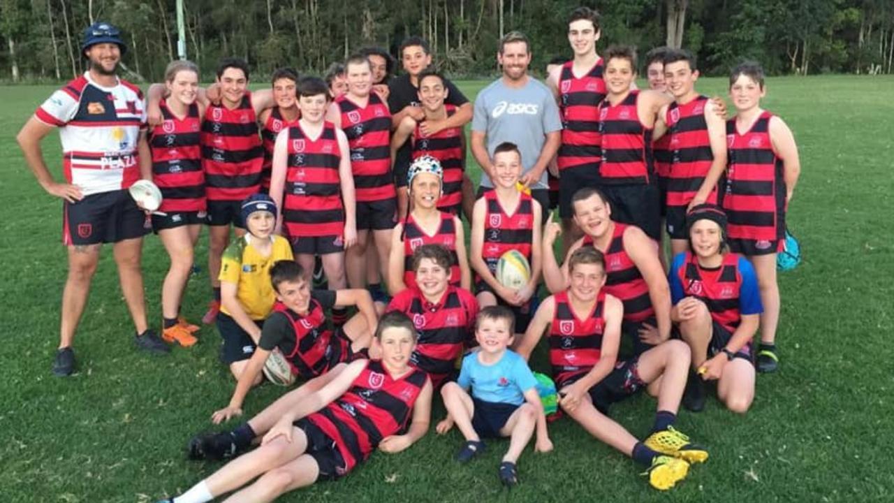 Wallabies legend Bernard Foley surprised Coffs Harbour Snappers Rugby Union Football Club juniors last weekend.