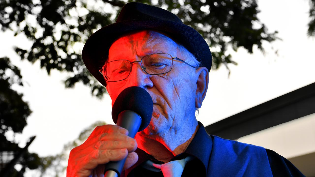 Keith Upward, 80, was robbed of his busking money during a performance in Nambour on Wednesday. Photo: John McCutcheon