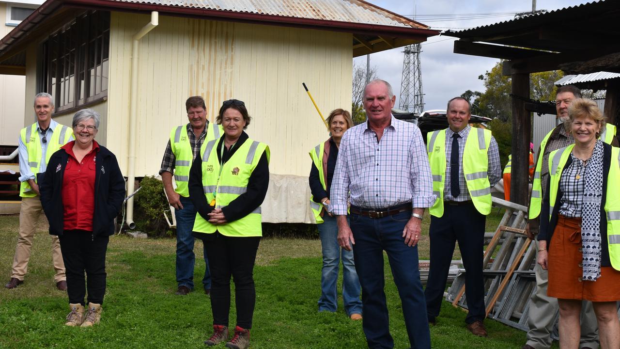North Burnett councillors with Rural Aid members outside Gayndah Museum. Picture: Sam Turner