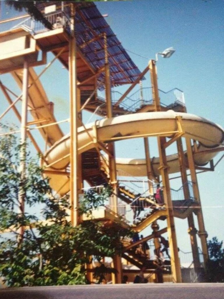 The water slide at Tunzafun Water Park in 1981. Picture: Peter Hehir Hystom via Glen Hall – Have you seen the Old Mackay