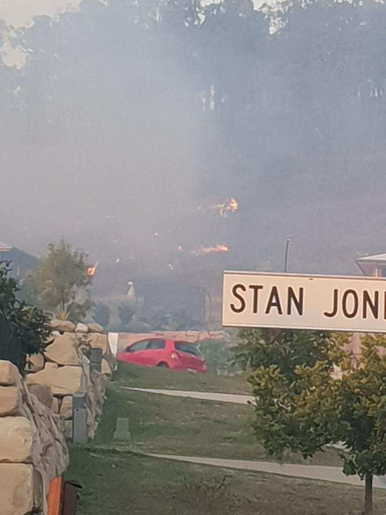 Smoke has blanketed the area.