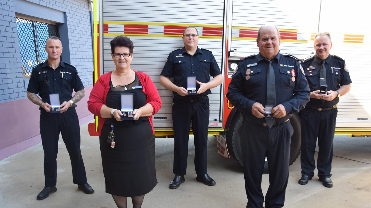 Award recipients Reade Stemple, Cameron Bunn, Barry Thompson, Lisa Christie and Robert Price.