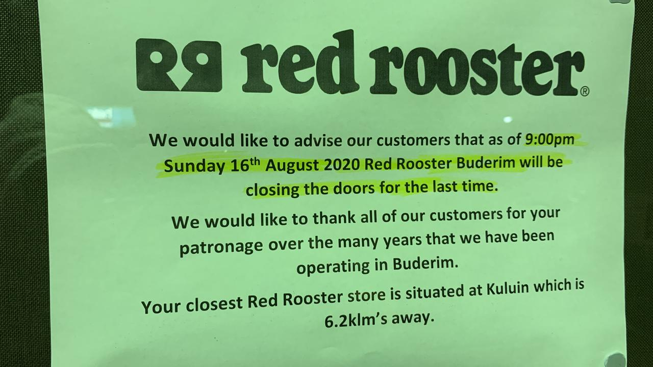 The Red Rooster at Buderim has been closed and the store completely gutted.