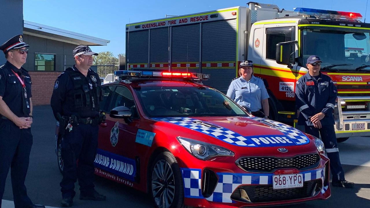 ROAD SAFETY WEEK: Crews from emergency services in Bundaberg worked together this week to promote the annual campaign and educate the public. Photo: Mikayla Haupt.