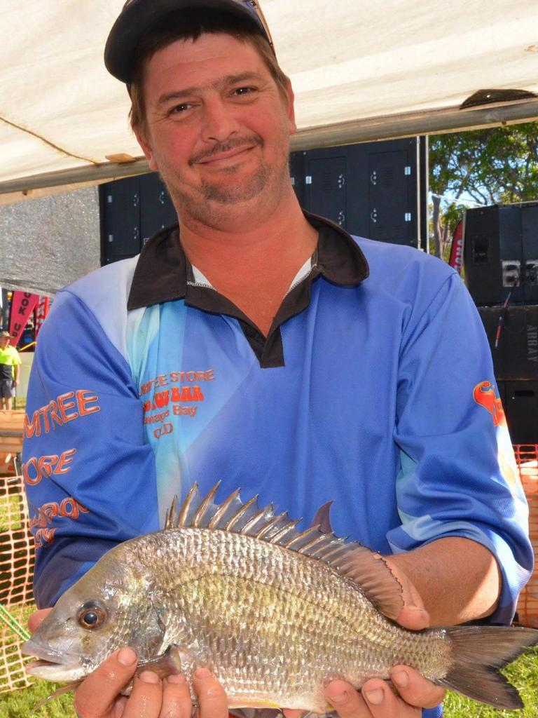 Brendan Murphy with a fine bream.