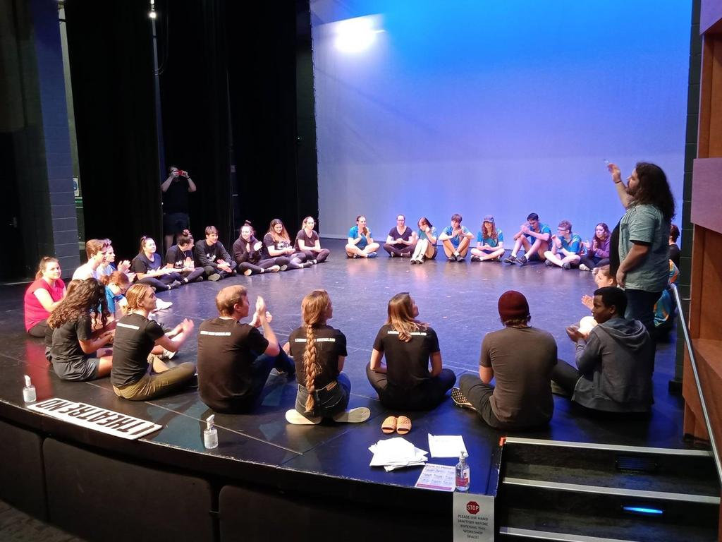 All participants on stage at CQ Conservatorium Theatre. Picture: Contributed