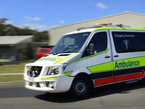 Woman rushed to hospital after car collides with pole