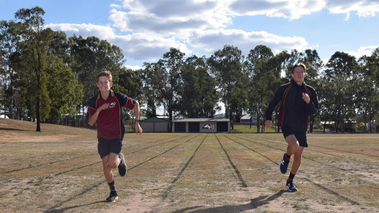 Cooper and Harrison Weil both won every event except one at their school athletics carnival. (Picture: Tristan Evert)