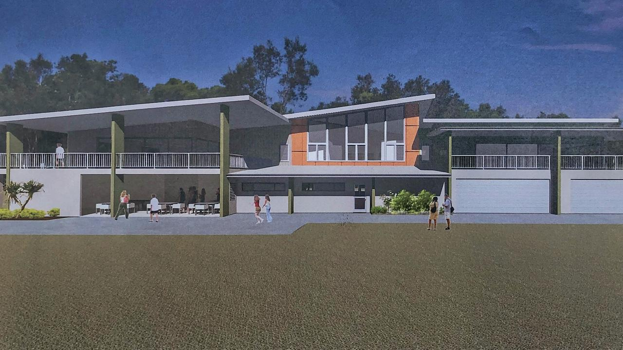 An architectural rendering of the planned Brunswick Heads Surf Club redevelopment. The state government is investing $3.8 million into the new facility.