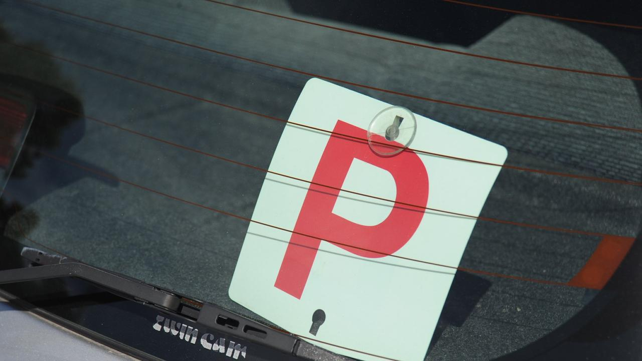 P-plater Emma Lee Bishop, 31, was fined $300 and suspended from driving for three months.