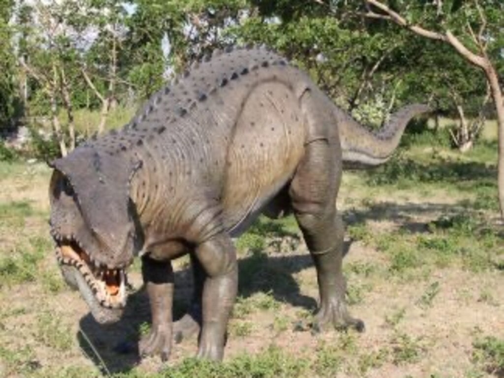 One of the dinosaur replicas which could be featuring at the Capricorn Dinosaur Park.