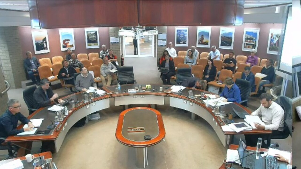 Ballina Shire Council's meeting was streamed live online from the council's website.