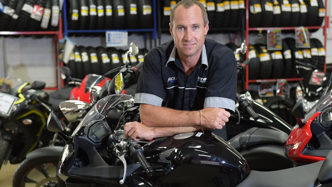 He sells motorbikes for a living but Paul Peterson is losing his composure at hoons in his street.