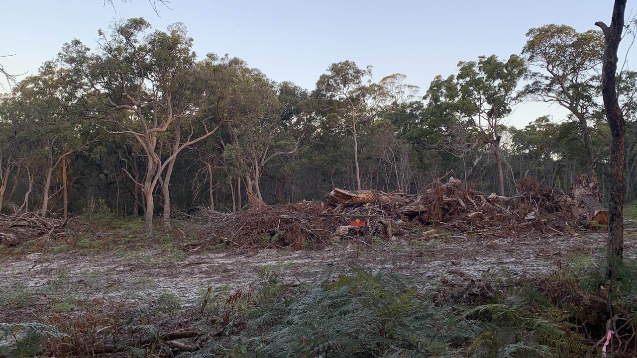 Destruction of bushland behind a sought-after street has angered residents.