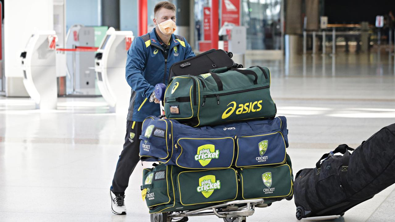 The Australian men's cricket team departed for the UK on August 23. Picture: Adam Yip