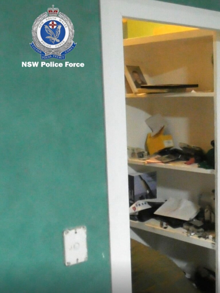 The hiding place of a man of a man who allegedly kidnapped and abused a woman in Sydney. Picture: NSW Police.