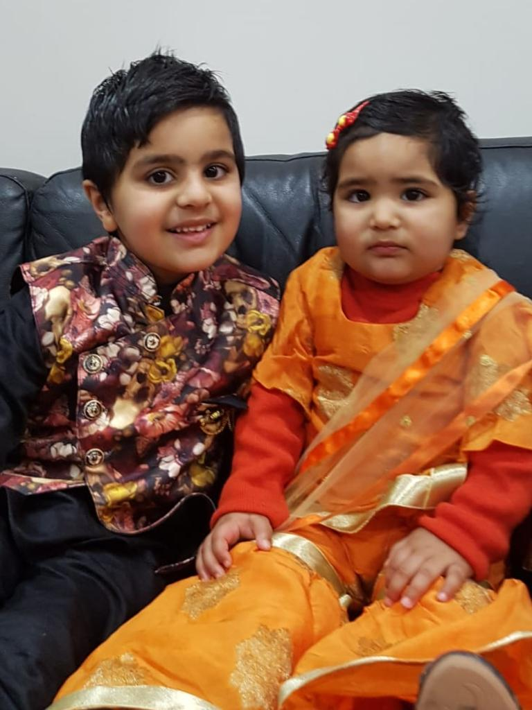 Ayan Kapoor pictured with his sister, Ahana.