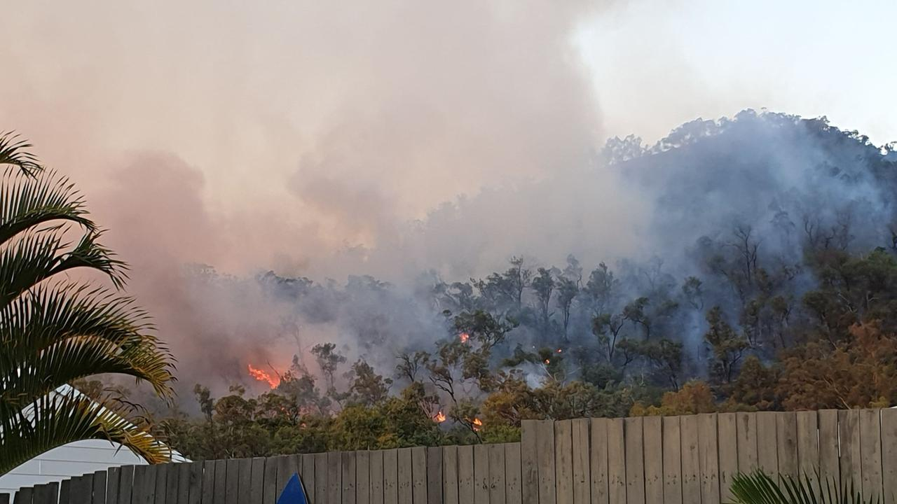 The bushfire at Norman Gardens has reignited.