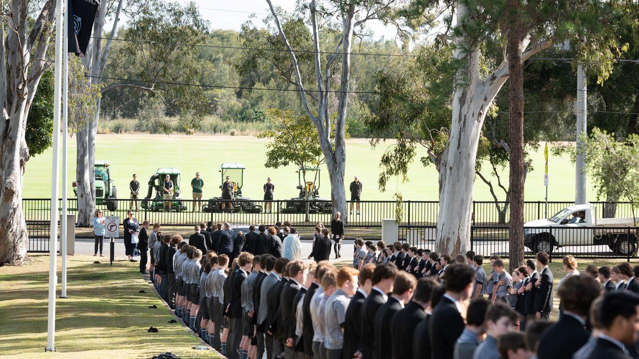 Jonah Waterson's funeral.
