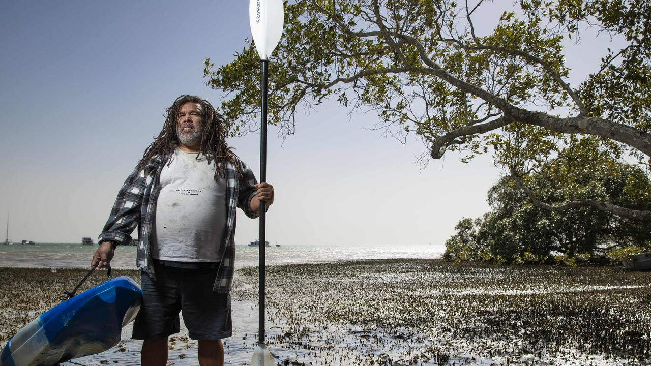 Quandamooka man Mark Jones claims QYAC has not done enough to combat drug and alcohol abuse on the island. Picture: Lachie Millard