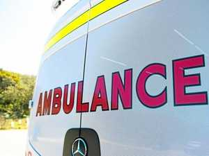 Teen in hospital after vehicle falls on top of him