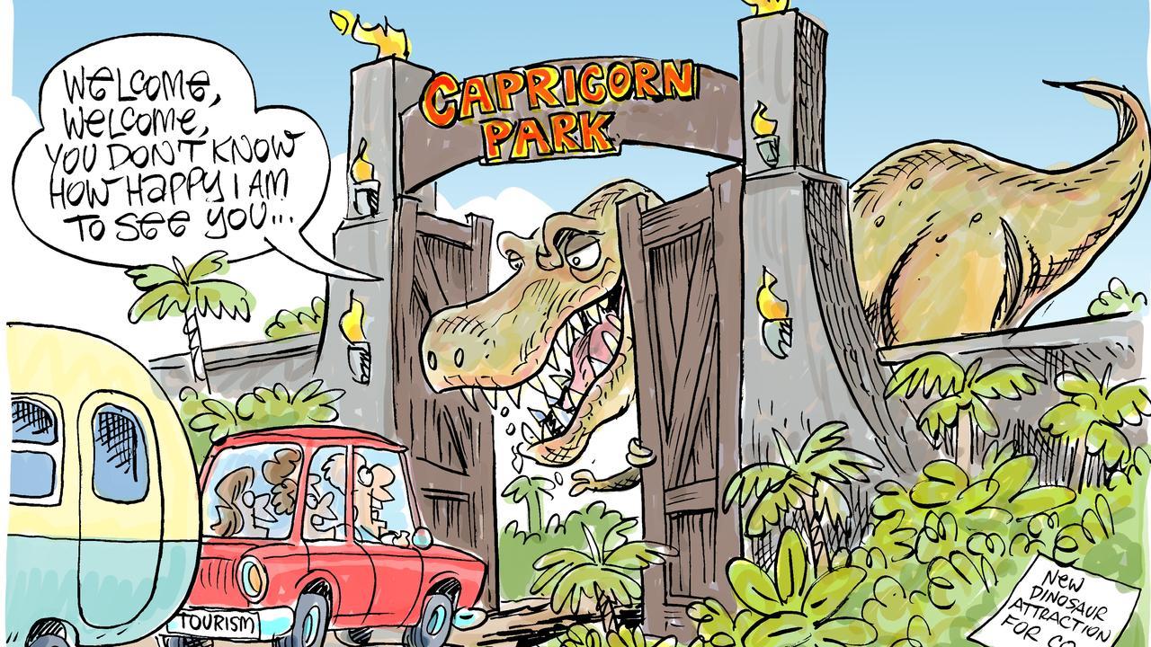 Harry's view on dinosaur park.