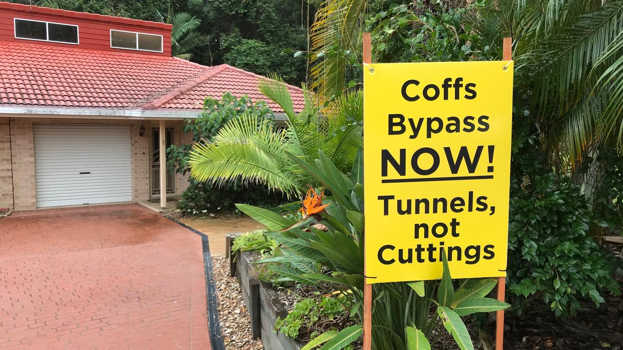 The Coffs Bypass Action Group campaigned for tunnels over cuttings.