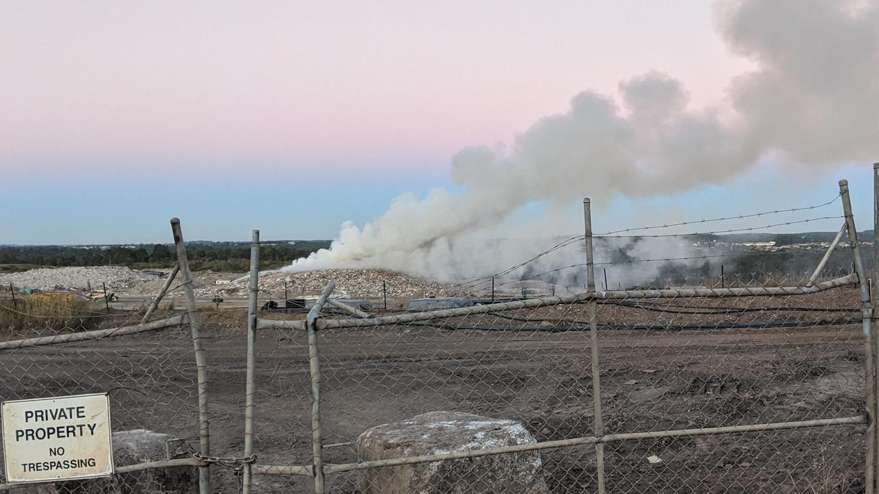 A fire at Cleanaway's New Chum landfill site on July 19. Picture: Supplied