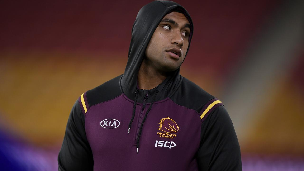 Tevita Pangai Jr's Broncos career is hanging in the balance after a marathon three-hour meeting with Brisbane board members.