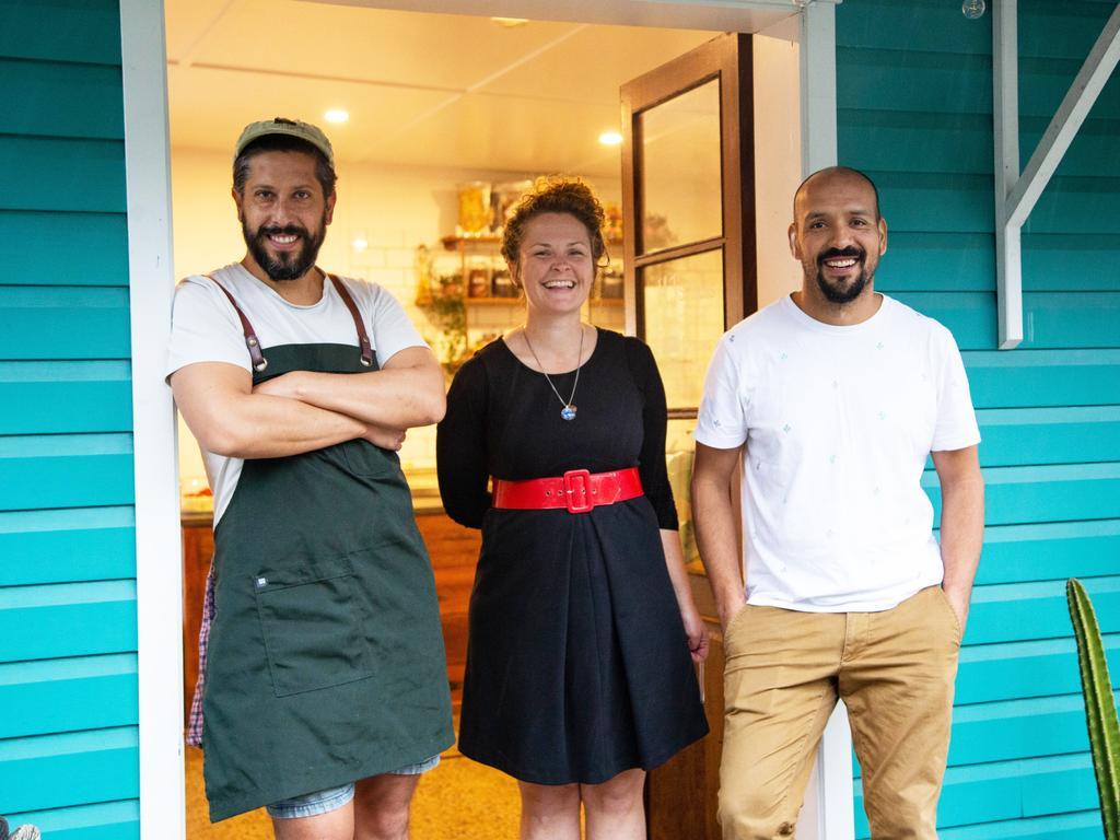 The team behind Mercado Juarez, chef Jorge Fernandez, co-owners Joey and Jefte Juarez.