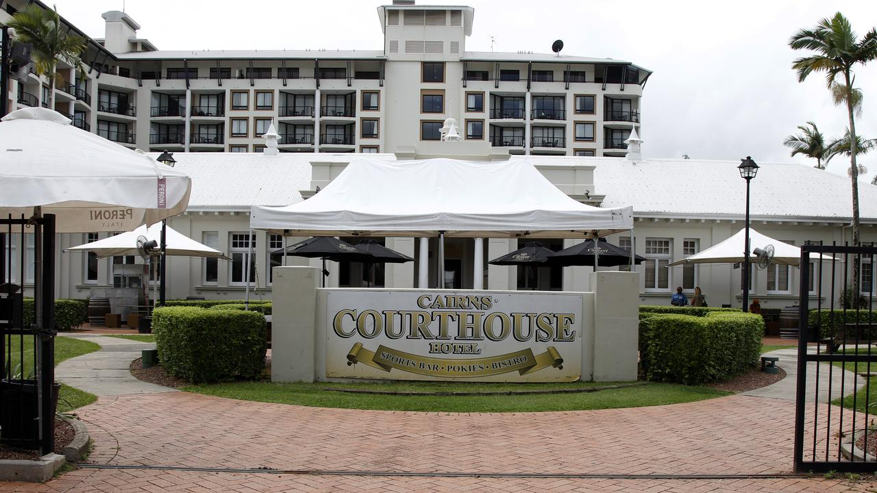 The Courthouse Hotel before it closed in 2016.