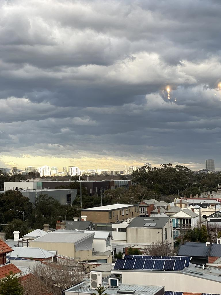 The storm sweeps over Albert Park on Thursday. Reader picture: Tracey Stephenson