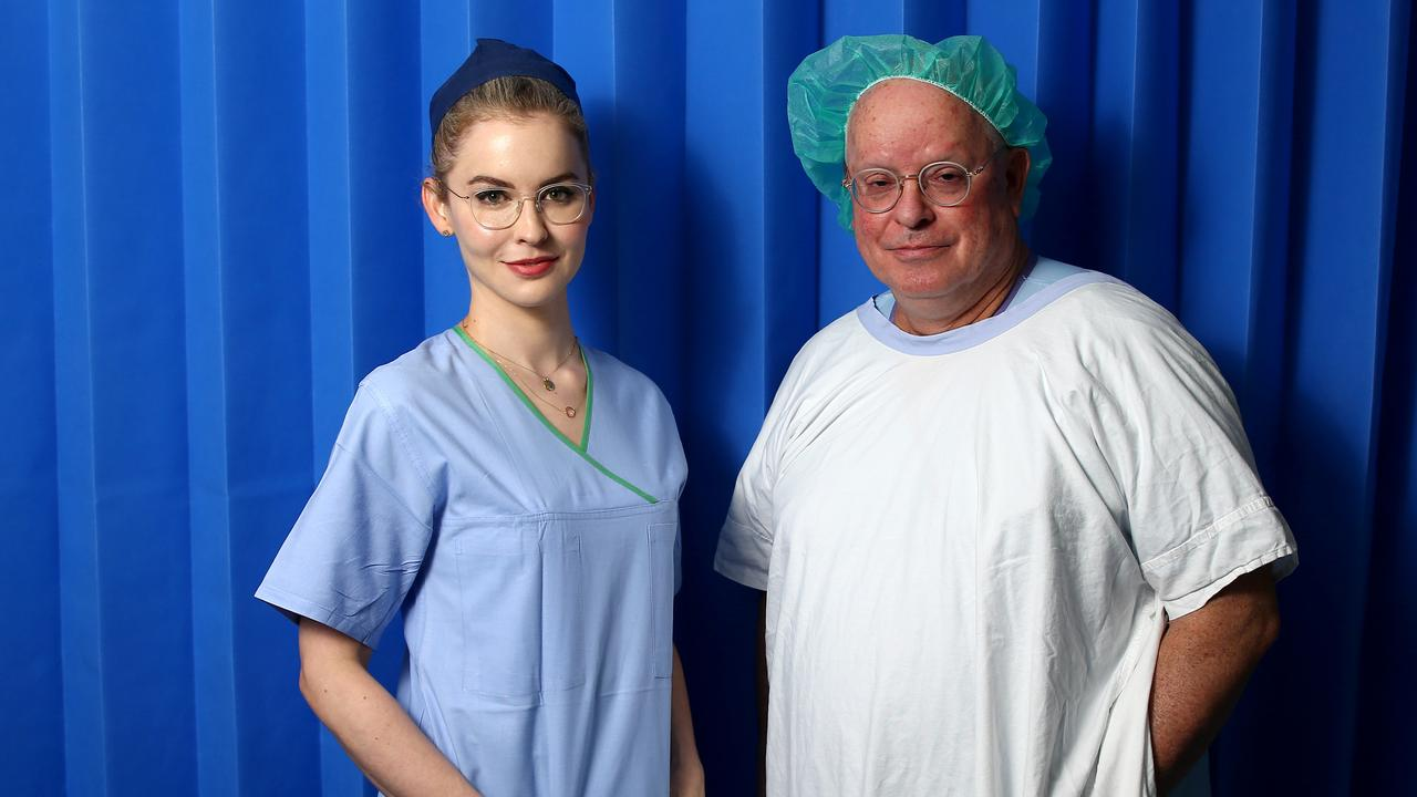 Prince Charles Hospital surgeons Dr Livia Williams and Dr Peter Tesar Picture: AAP/David Clark