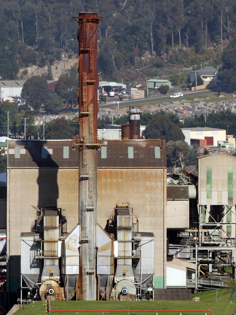 SMOKE AND EFFLUENT: Burnie's pulp mill.