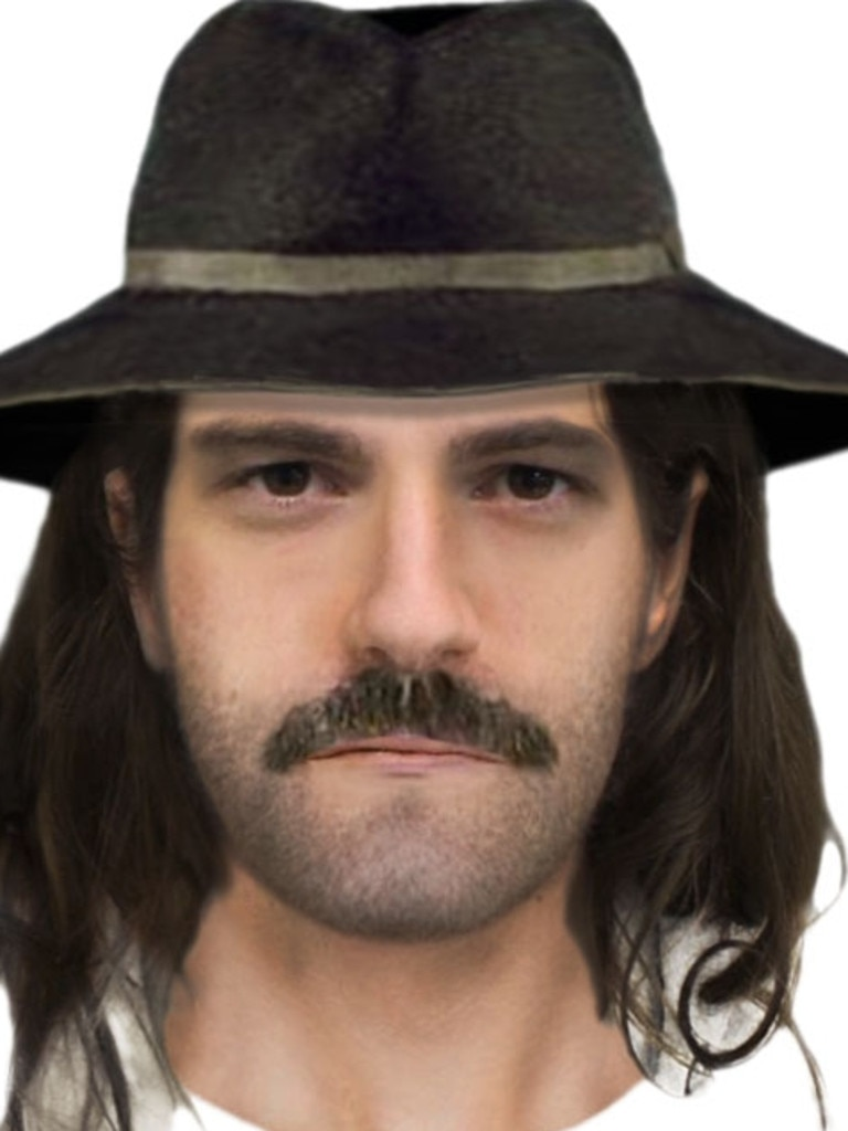 A police image of the suspected killer as he might have looked at the time.