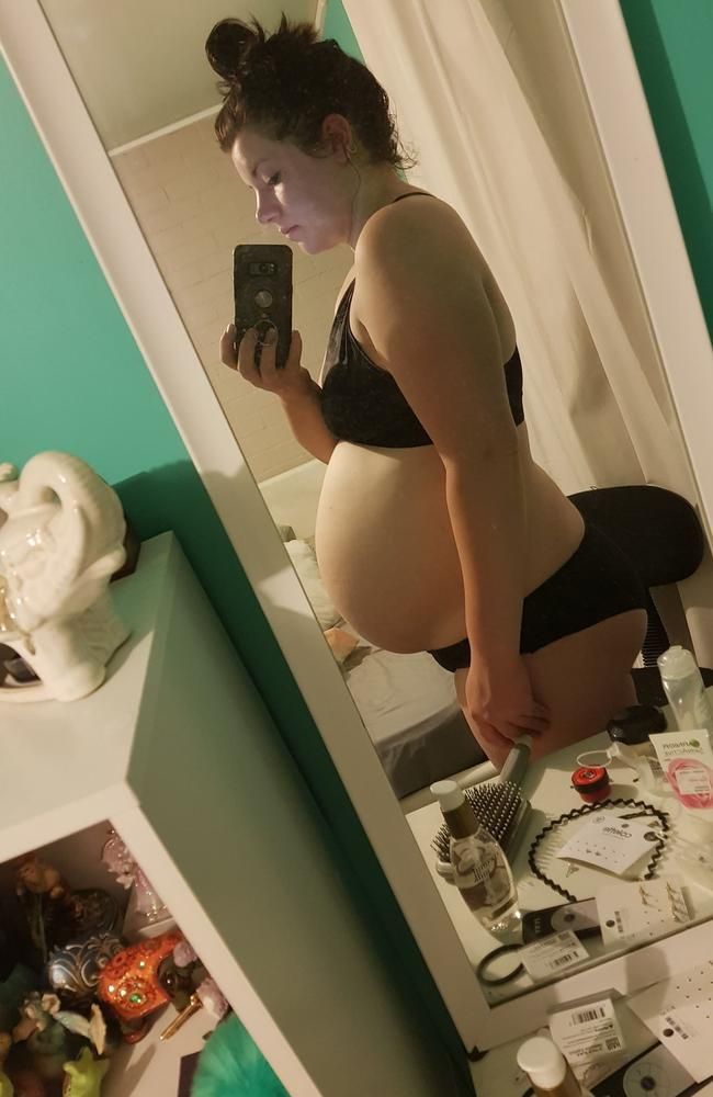 She said she gained a lot of weight during her first pregnancy. Picture: The Healthy Mummy