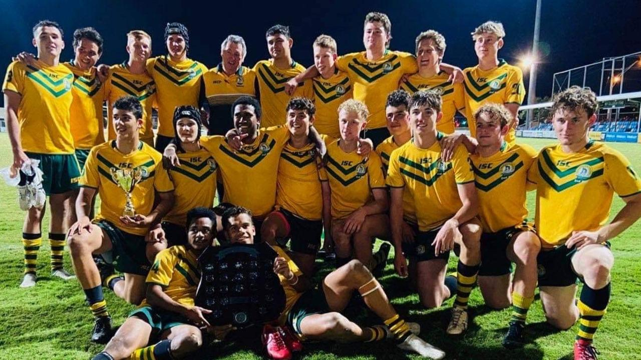 St Brendan's College took out the RDSSRL Open A final, beating Rockhampton Grammar 26-10 at Browne Park last night. Photo: Contributed