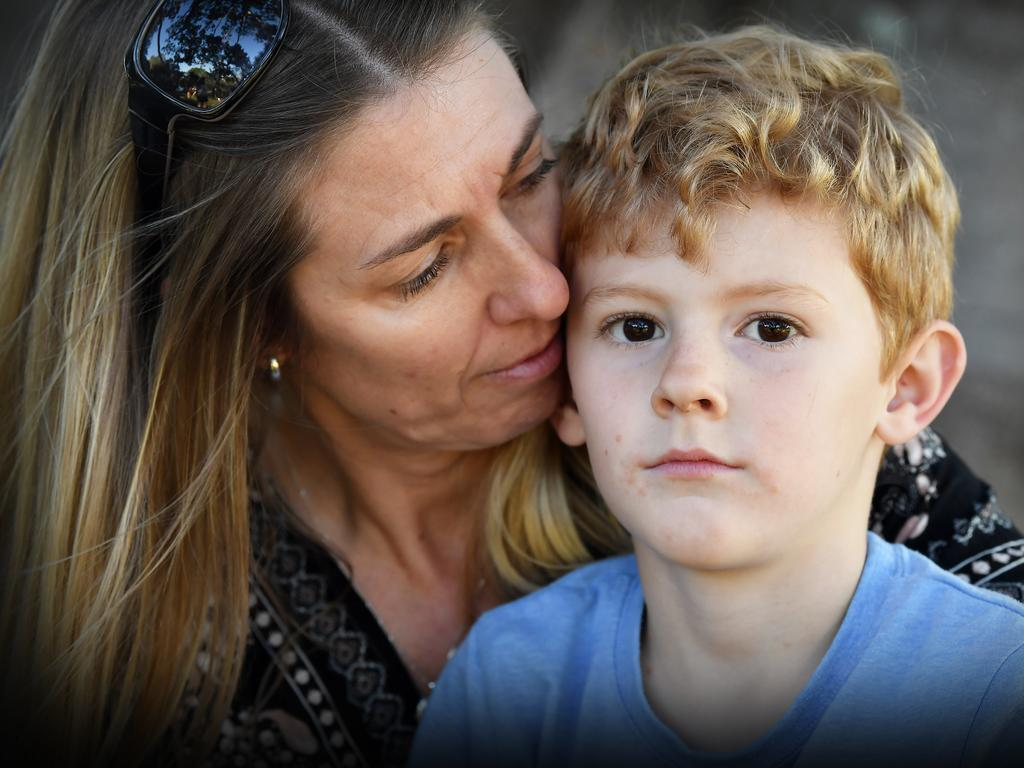 Rachel Bourne and her son, Mason, 5, miss their husband and father, Grey, dearly. Photo Patrick Woods
