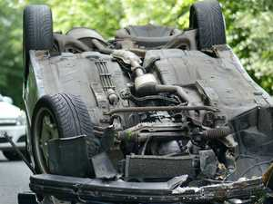 Man in hospital after car rolls south of Gympie