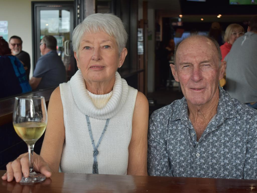 Barb Hill and Warren Hill at Jazz by the Beach 2020 at the Seabreeze Hotel at Slade Point. Picture: Heidi Petith