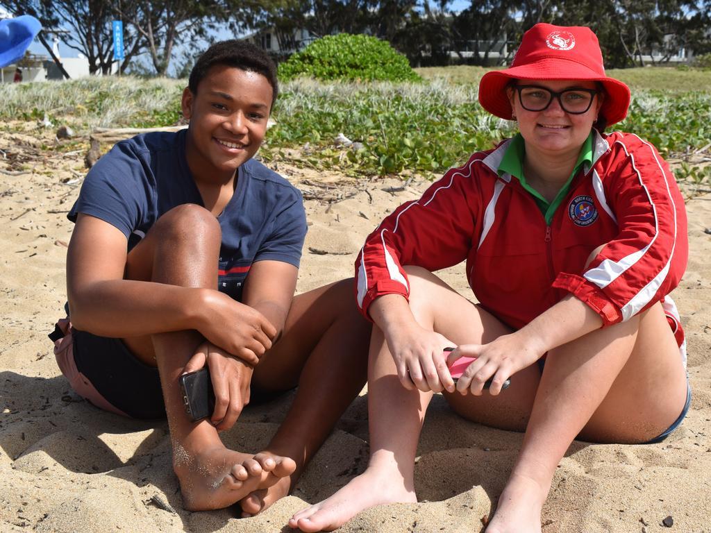 Mackay Surf Lifesaving Club members Artur De Sousa and Hailey Bom. Picture: Heidi Petith