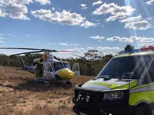 Chopper transports woman after horse fall