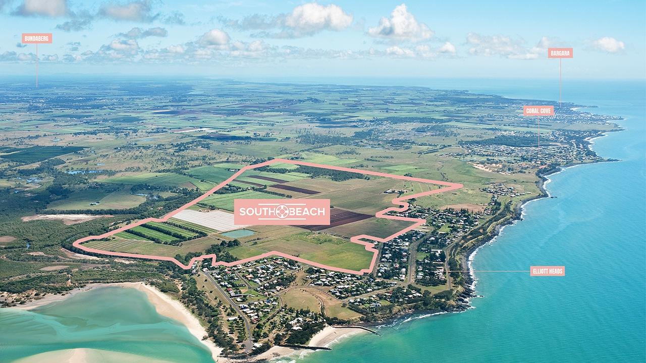 South Beach Elliott Heads aerial view.